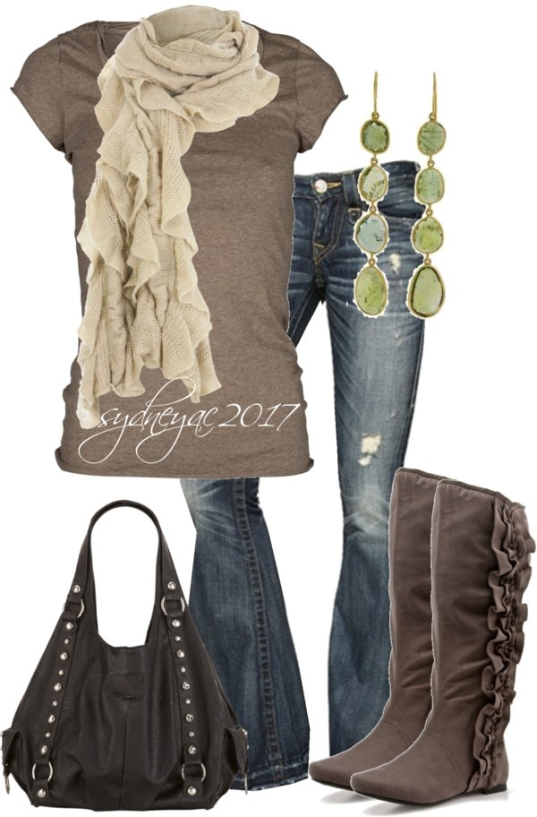 Latest grey winter warm outfit ladies fashion