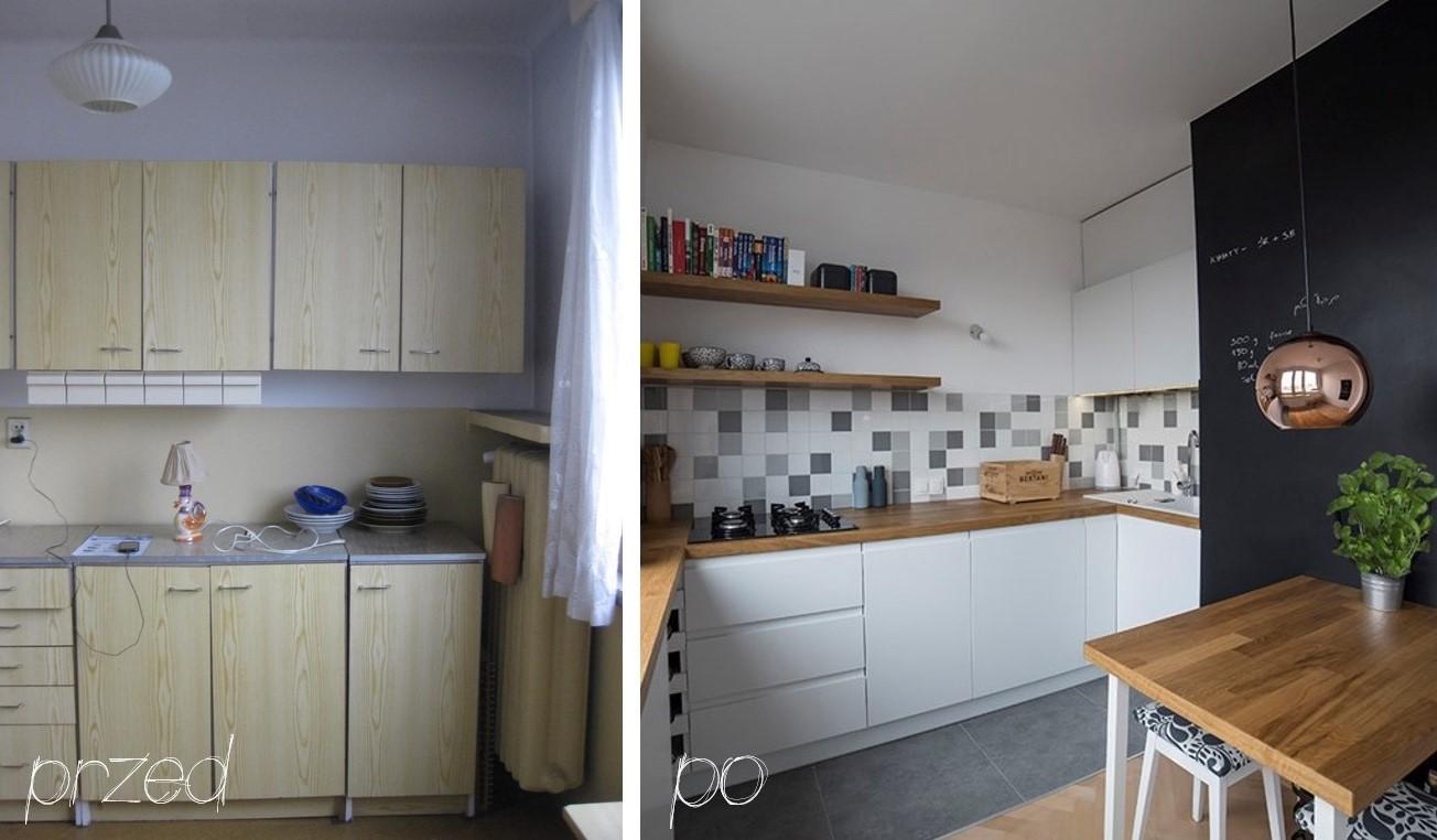 Metamorfoza 1 Kuchnia łazienka Przedpokój Mieszkanie W