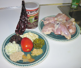 ingredients for crock pot chicken mole
