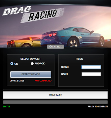 Drag Racing Hack is very useful program. It's adding any resources