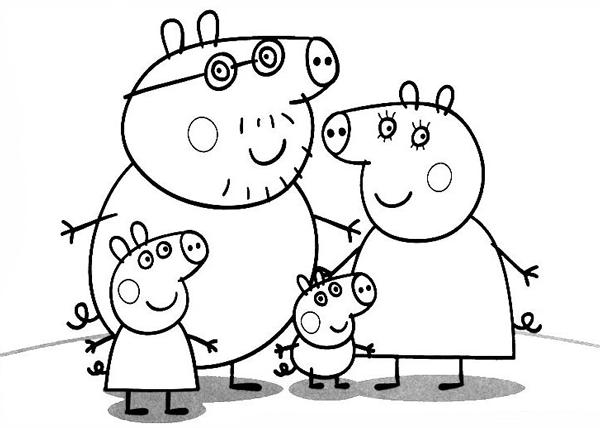 todo para niños: Pepa pig, dibujos para pintar