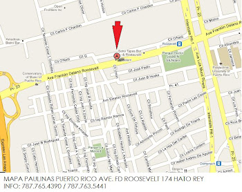 Mapa Nueva Librería Paulinas en Avenida Roosevelt 174