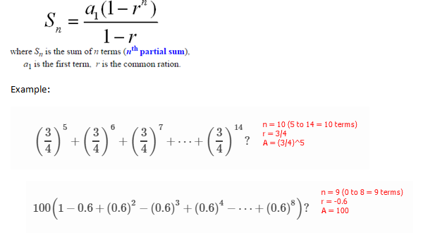 lemzki ad Infinitum: Sum of Geometric Series