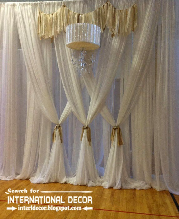 Modern White Curtain Designs For Living Room 2015