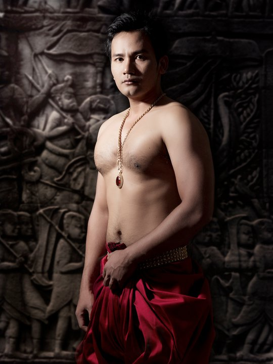 Cambodian handsome guys khmer guy in ancient clothes