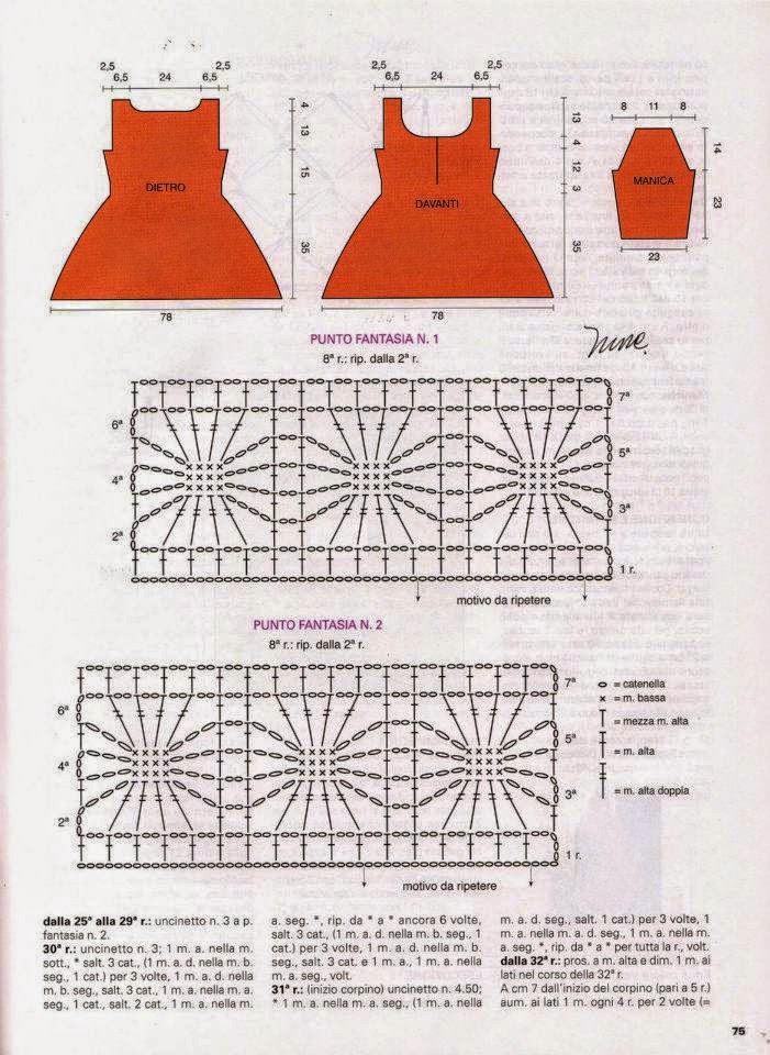 Blusa folk tejida con ganchillo - con moldes y patrones
