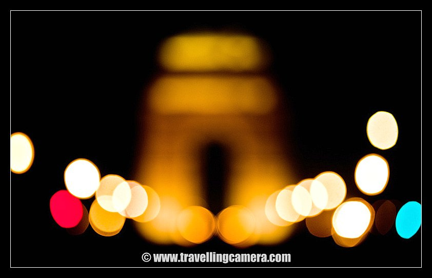 During one of the Photo-shoots last months I was trying out few things with Bokeh and here is one of the photograph I liked... The up side down U shaped building is India gate with street lights on both the sides... I tried lot many things with various focal length and manual focus !! I guess it would be one of the technique to test quality of Camera Lenses...