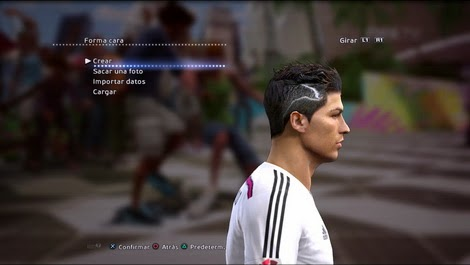 PESMODIF PES Cristiano Ronaldo New Hair By Bryan - New face hair cristiano ronaldo pes 2013