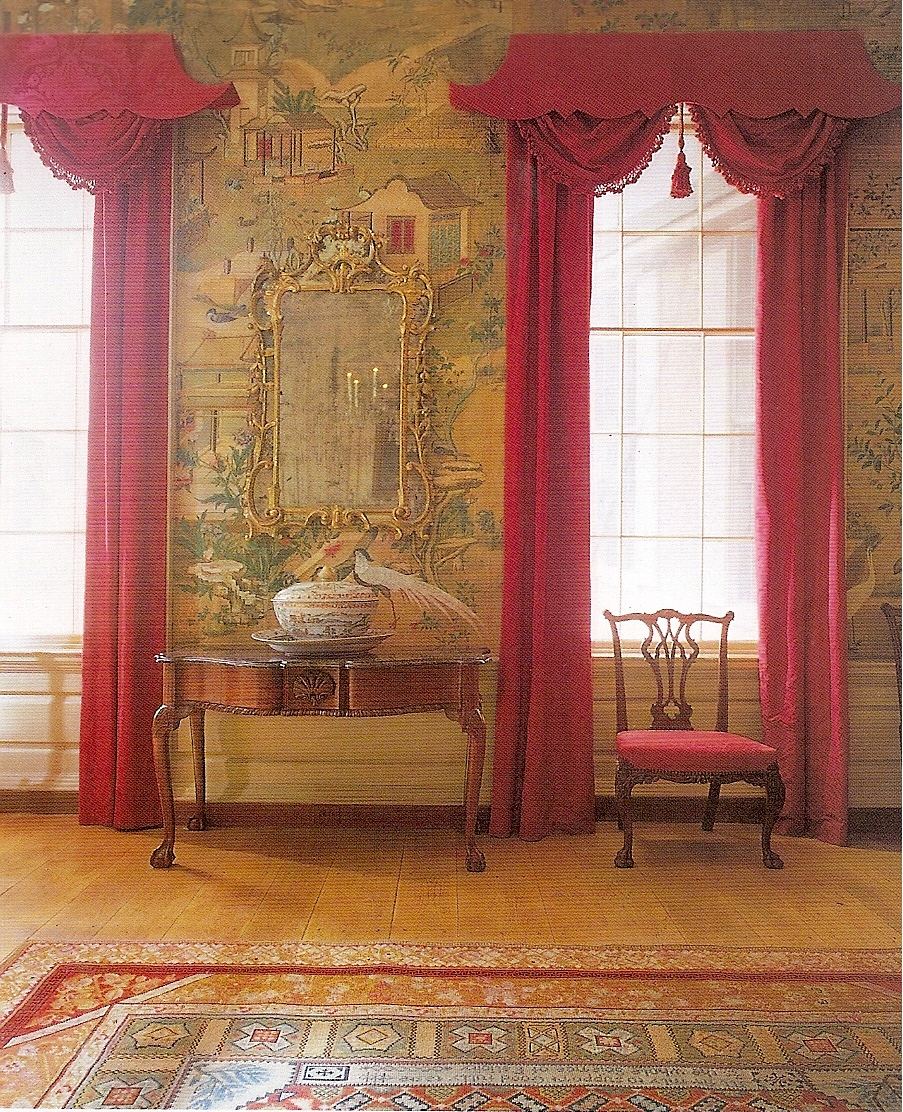 Chinoiserie chic pagoda cornices and pelmets for 18th century window treatments