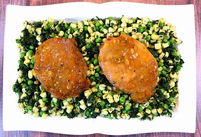 Apricot Mustard Glazed Pork Chops