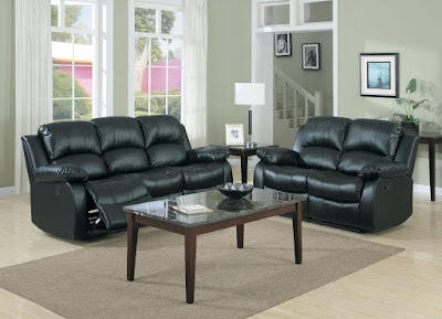 Homelegance 9700BLK-2 Double Reclining Loveseat