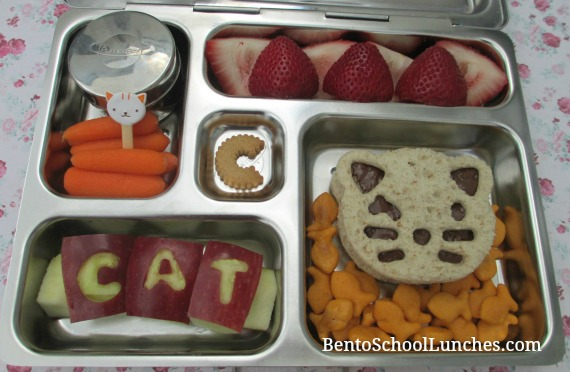 CAT lunch, CuteZCute, bento school lunches