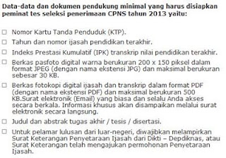 syarat bagi pelamar cpns 2013