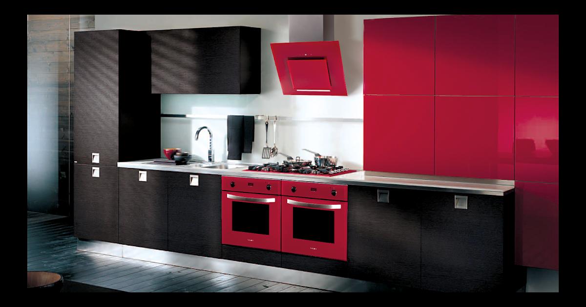 cuisine rouge et weng. Black Bedroom Furniture Sets. Home Design Ideas
