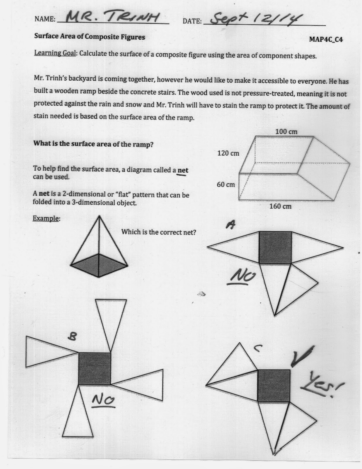 Grade 12 College Math Surface Area of Composite Figures – Area of Composite Figures Worksheets