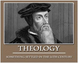 john calvin, theology, 16th century, joke