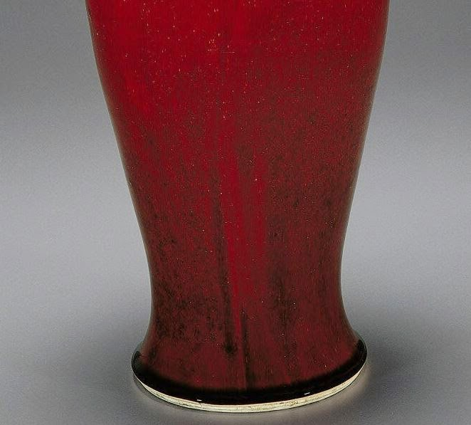 base Kangxi oxblood baluster vase
