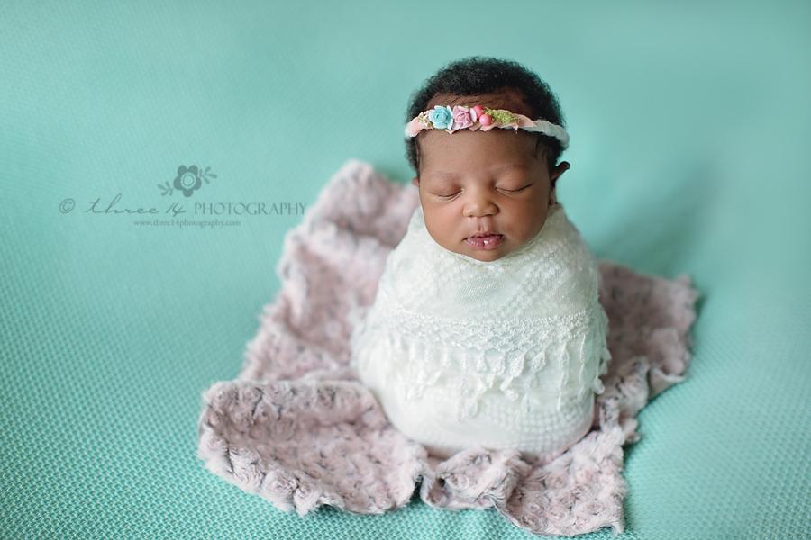 Newborn Girl in Cocoon