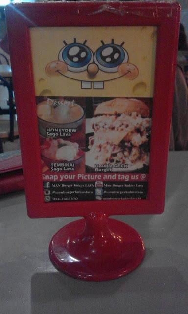 Man Burger Bakar Kukus Lava