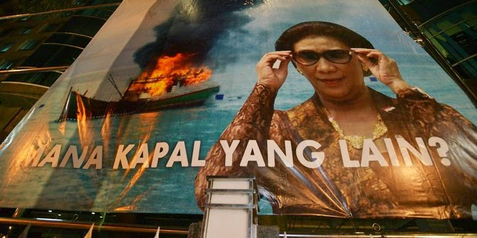 MENTERI INDON BANGGA DAPAT HANCURKAN SAMPAI LUMAT INDUSTRI PERIKANAN THAILAND MALAYSIA