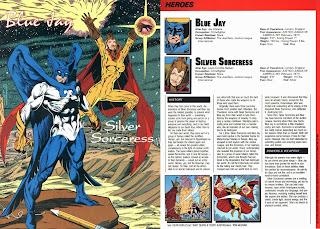 Pajaro Azul y Hechicera de Plata (ficha dc comics)
