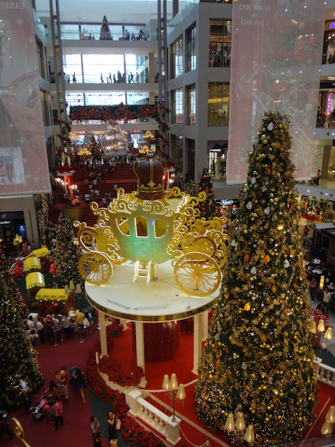Beautiful carriage in the center of Christmas Mall Decoration in Pavilion Mall, Kuala Lumpur, MALAYSIA