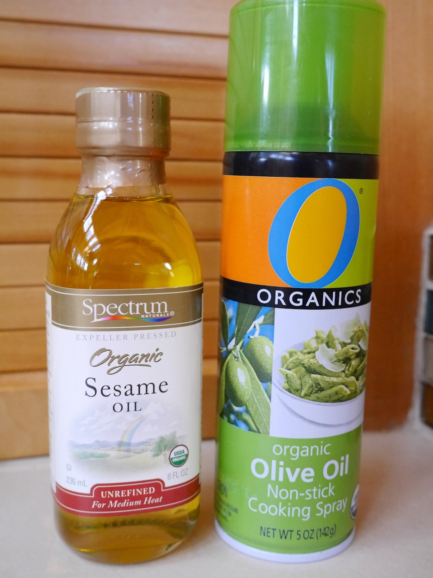 Spray oil is a way of using much less oil on eggplant, a vegetable ...