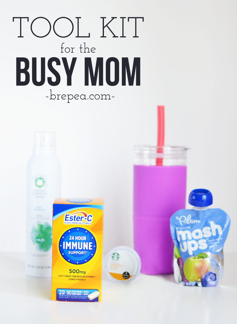 Tips for busy moms, this toolkit offers some really awesome advice on busy mom must-haves (especially the one about dry shampoo!)