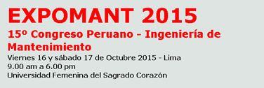 EXPOMANT 2015 Peru: Congreso Peruano de Mantenimiento