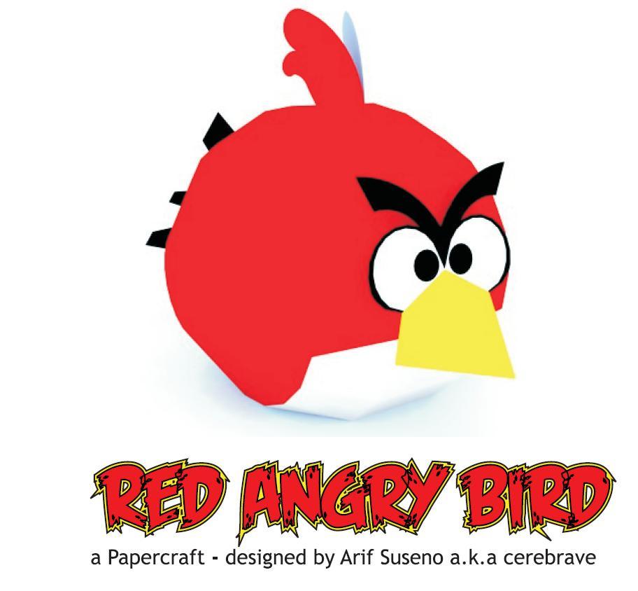angry birds red bird papercraft depapercraftblog. Black Bedroom Furniture Sets. Home Design Ideas