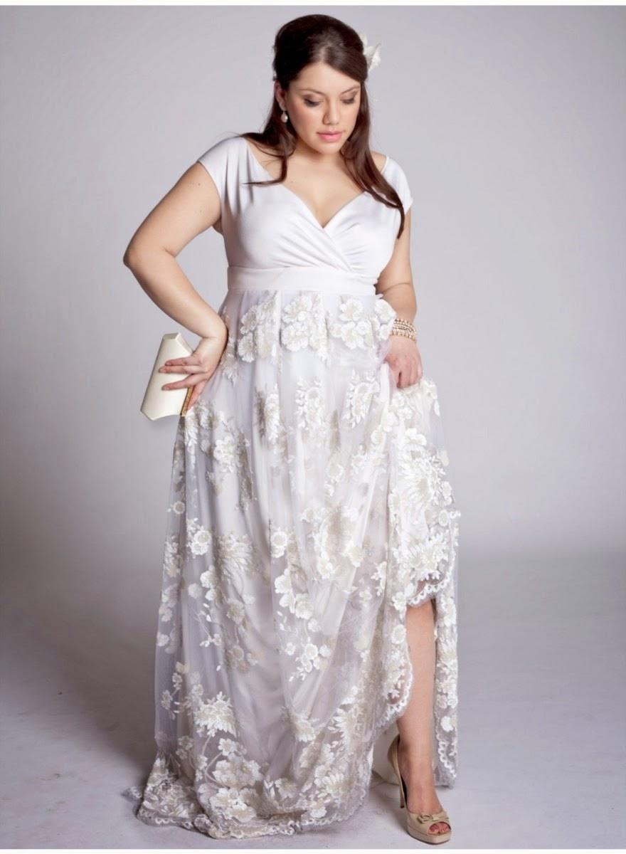 vestido de renda branco para gordinhas  dicas e fotos