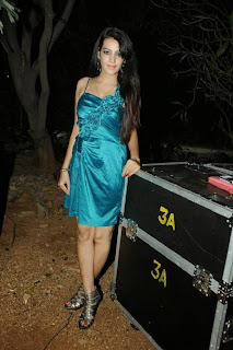 Actress Deeksha Panth  Picture Gallery in Silk Short Dress at Billa Ranga Audio Launch  0075.jpg
