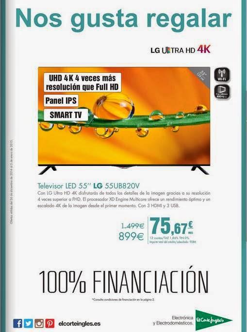 Oferta TV LG de 55 899 euros / ECI 1-5-15