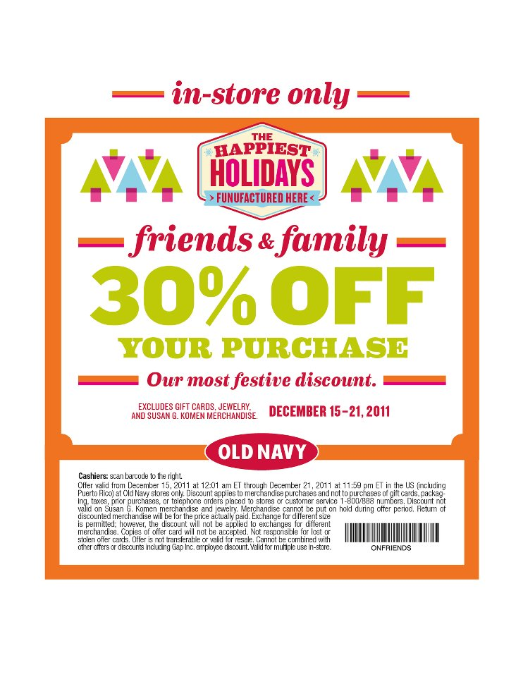 Coupon codes for old navy