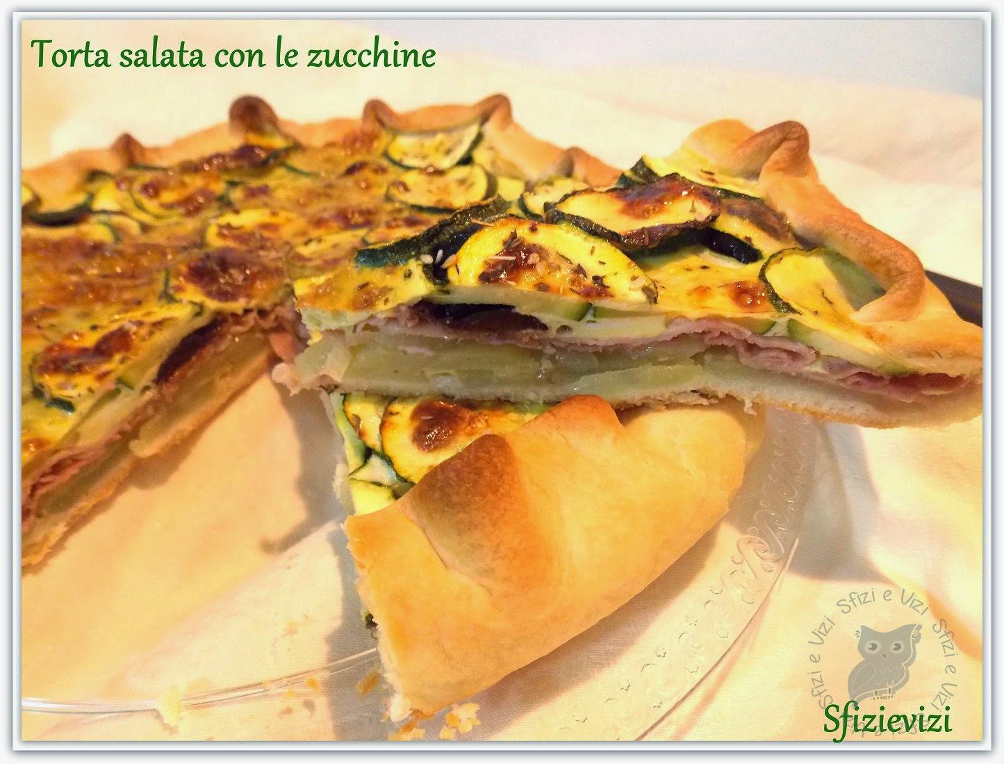 torta salata con patate zucchine prosciutto cotto e scalogno - ricetta senza latticini -