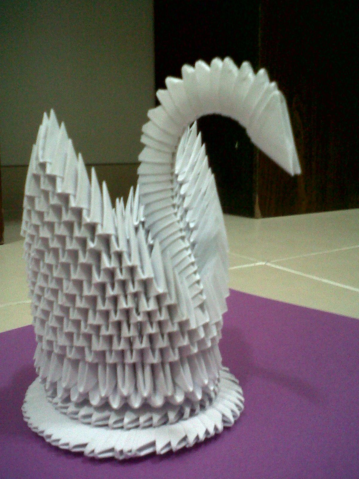 Elizabeth Arlene Quilled Creations 3d Origami Swan