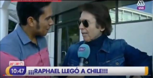 Raphael llegó a Chile