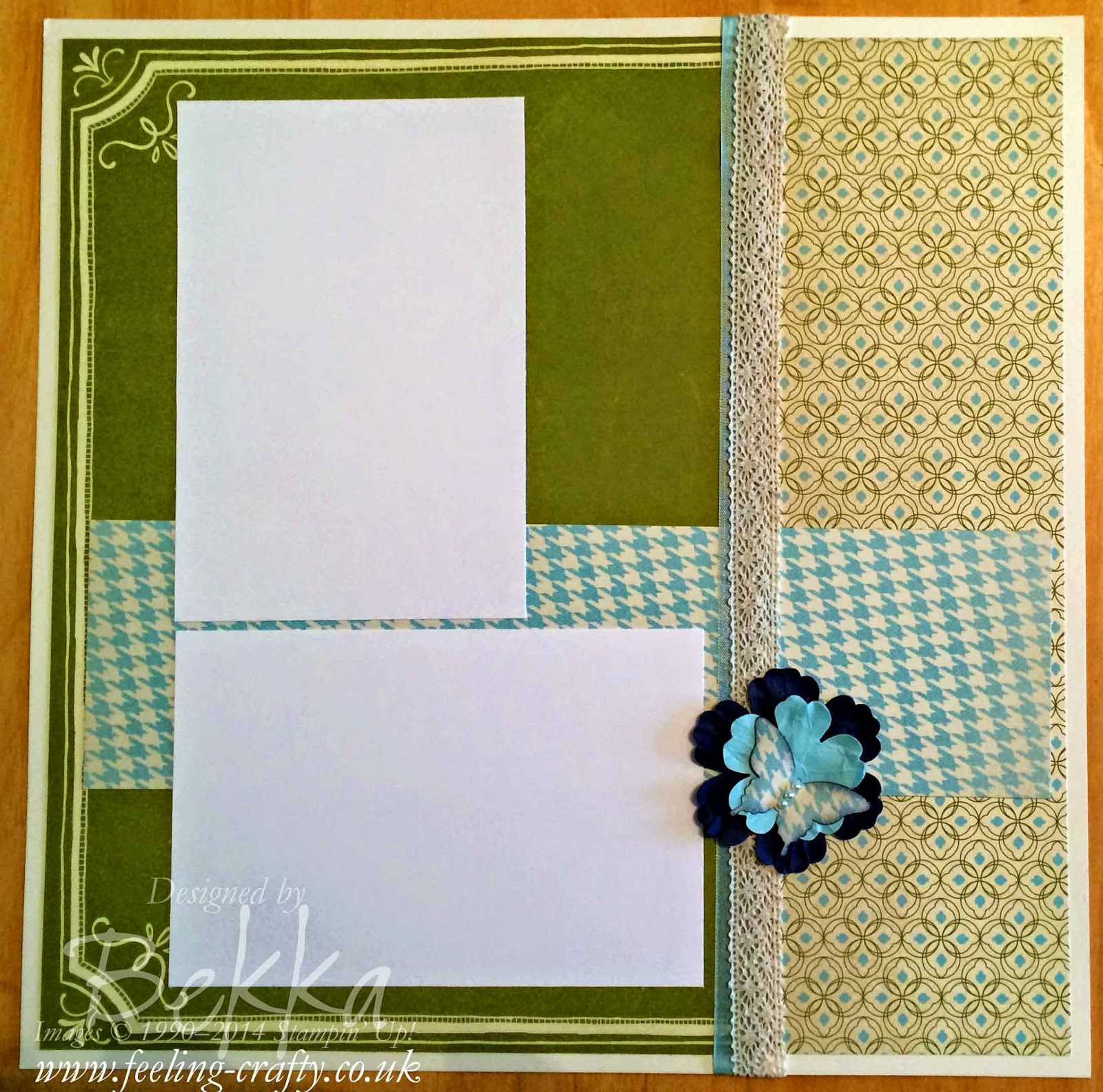 Stampin' Up! Etcetra Papers Scrapbook Page by UK Based Demonstrator Bekka - check her blog every Saturday for great scrapbook inspiration