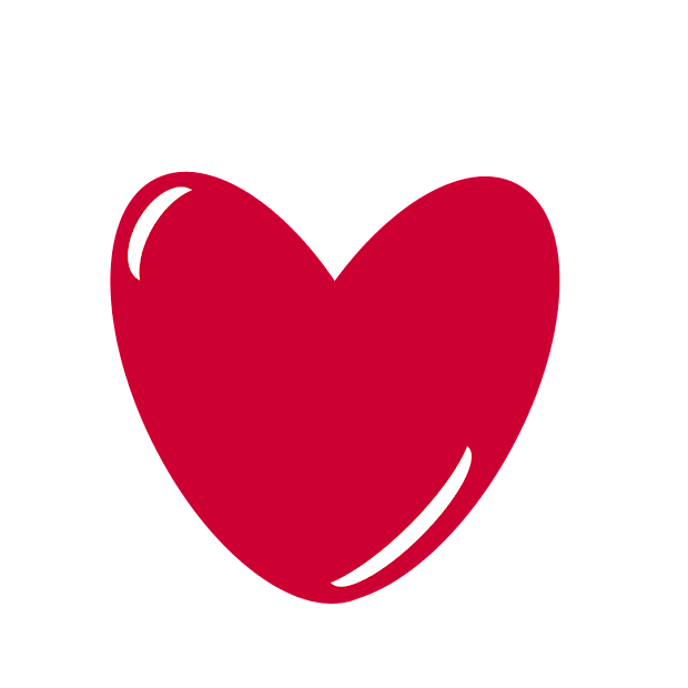 free clipart red heart