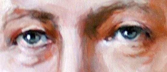 Ölgemälde, Portrait eines Mannes, Detail