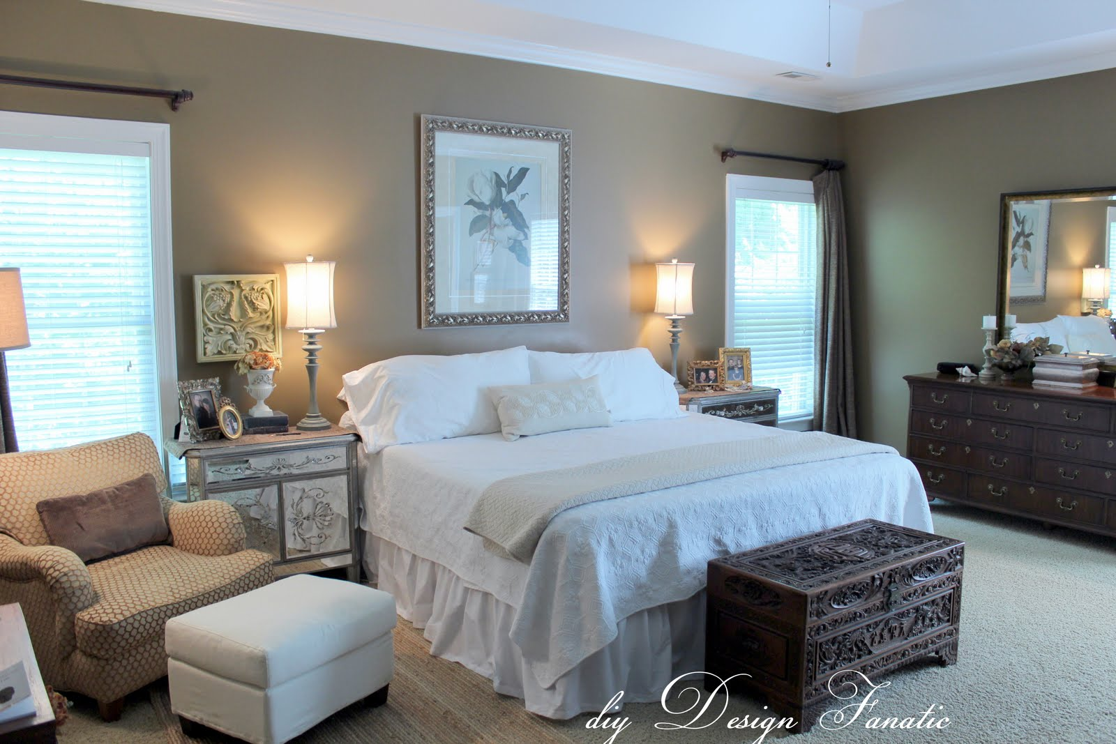 Diy design fanatic decorating a master bedroom on a budget Diy master bedroom makeover