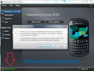 Setting BlackBerry Jadi Modem