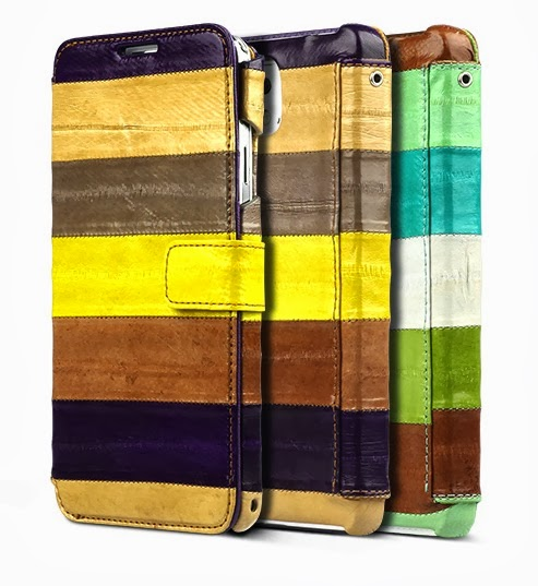 Natural Eel Diary Case Samsung Galaxy Note 3 Leather Diary Cases