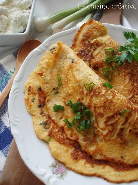 Omlet palačinke sa mladim sirom