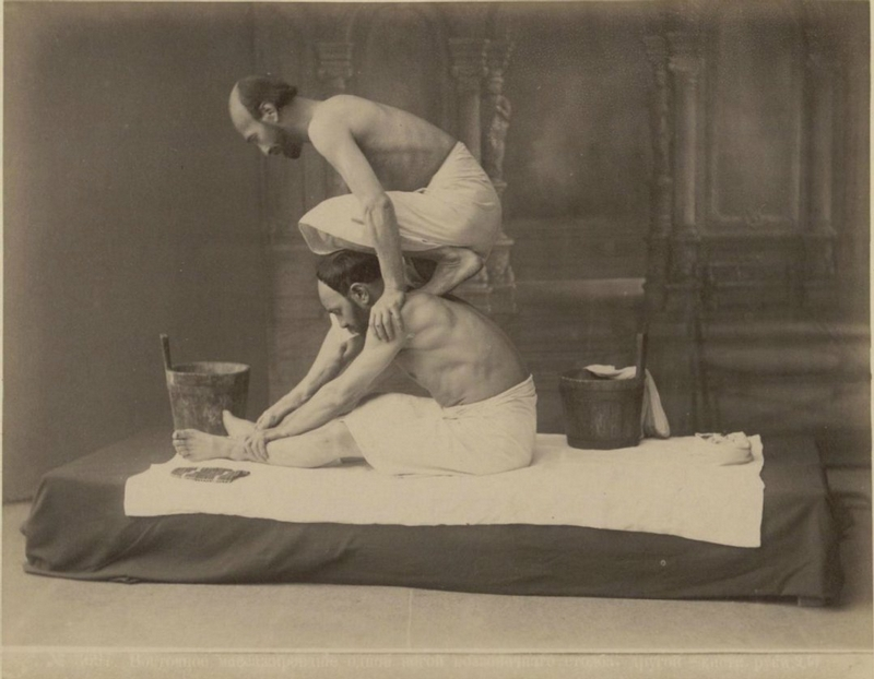 Vintage photography massage in baths of tbilisi 1890 for Classic house massage