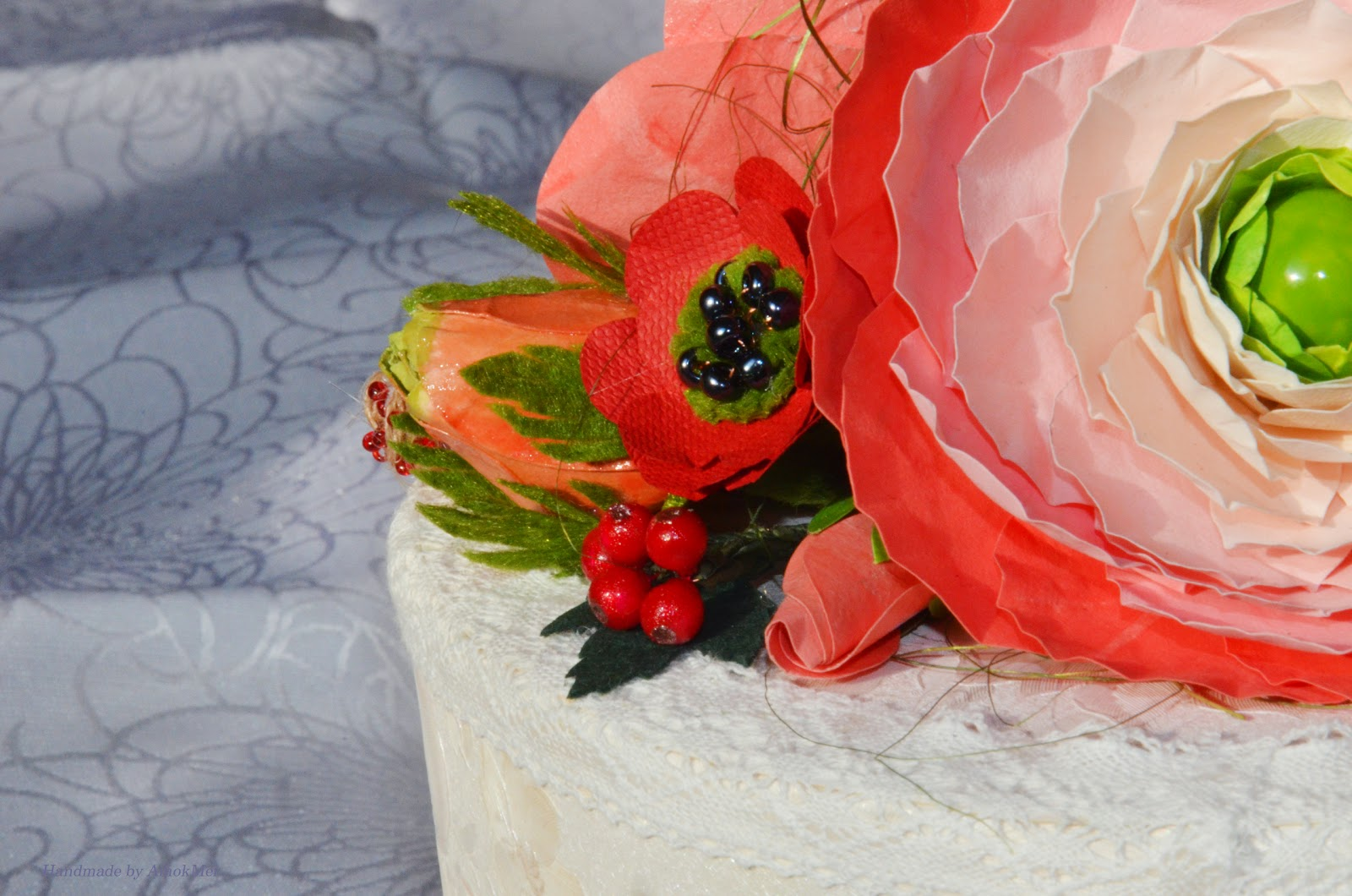 Шкатулка. Декор цветами