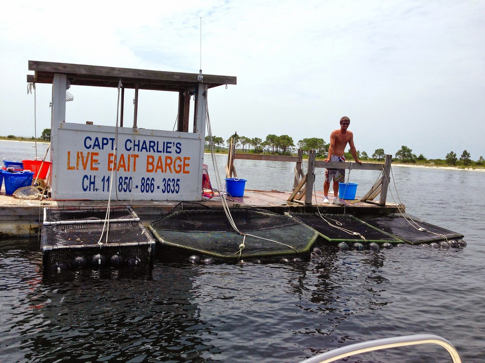 captain charlies bait barge