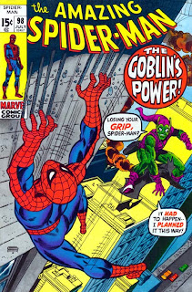 Review Amazing Spider-Man #98 Green Goblin Norman Osborn Gwen Stacy Stan Lee Gil Kane Frank Giacoia Marvel Cover comic book issue