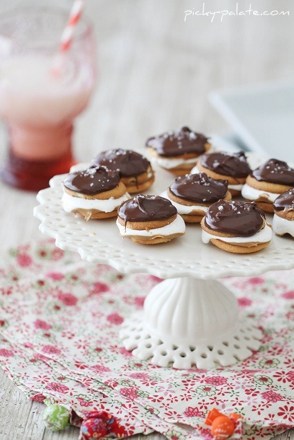 salted chocolate covered fluffer nutter wafers