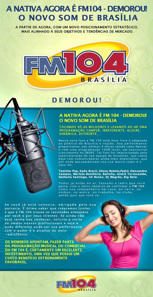Nativa FM Brasília encerra suas operações